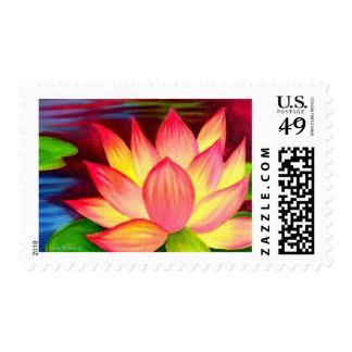 Chinese Lotus Water Lily Flower Art - Multi Postage