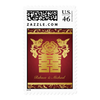 Chinese Love Birds Double Happiness Postage