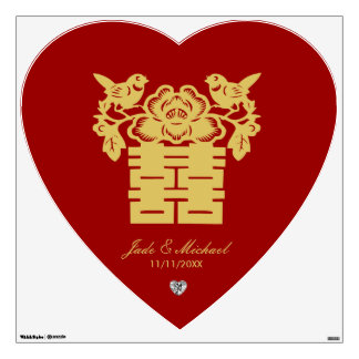 Chinese Love Birds Double Happiness Symbol Room Decals