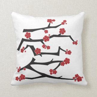 Chinese Love Heart Cherry Blossoms Sakura Wedding Throw Pillow