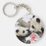 Chinese Love Pandas Keychain