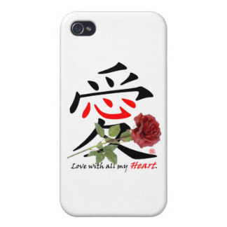 Chinese Love Rose iPhone 4 Case