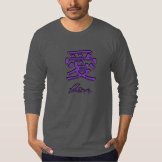 Chinese Love Symbol in Purple T-shirt