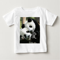 Chinese Loving Little Giant Pandas Baby T-Shirt