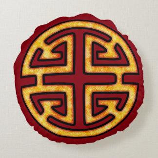 Chinese Lu Symbol Round Pillow