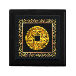 Chinese Lucky Gold Coin Trinket Box