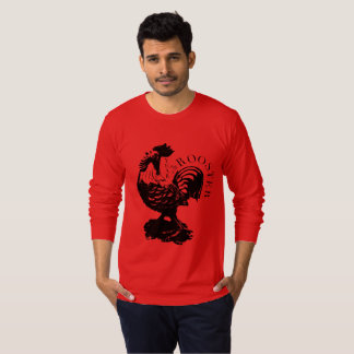 Chinese Lucky Rooster New Year 2017 red Tee