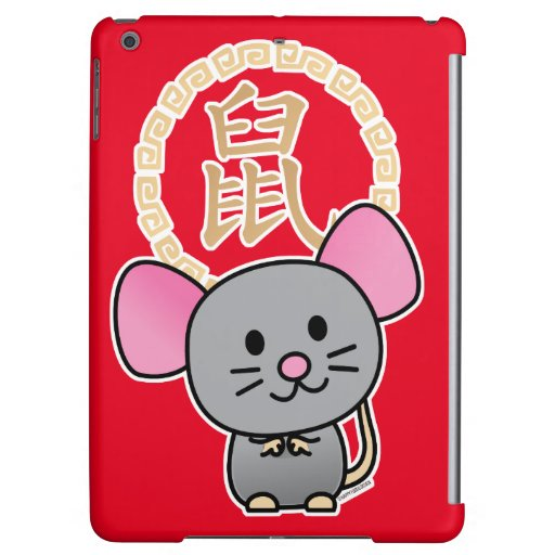 Chinese lunar New Year mouse rat lucky money red Case For iPad Air