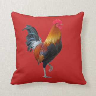 Chinese Lunar New Year Rooster Throw Pillow