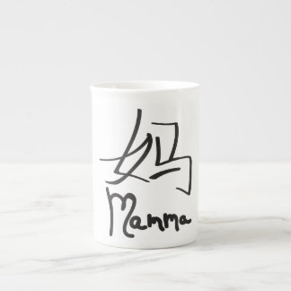 Chinese Mamma Character Symbol Bone China Mug Tea Cup