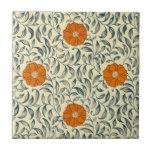 Chinese mandarin floral tile
