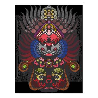 Chinese Mask Postcard