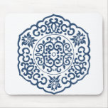 Chinese Medallion blue Mouse Pad