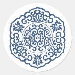 Chinese Medallion blue Sticker
