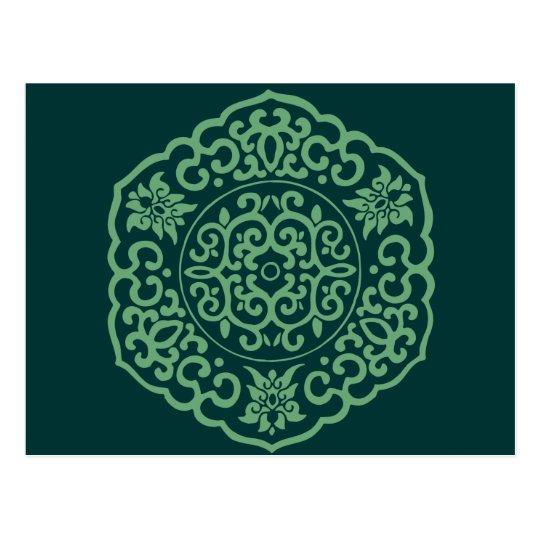 Chinese Medallion green Postcard
