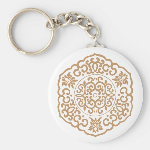 Chinese Medallion yellow Key Chains