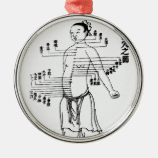 Chinese Medicine chart Metal Ornament