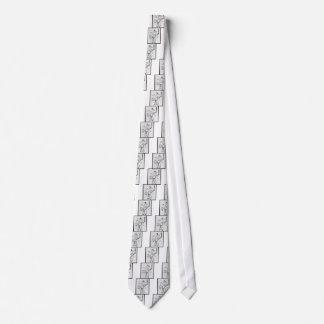 Chinese Medicine chart Neck Tie
