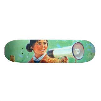 Chinese Megaphone Girl Skateboard Deck