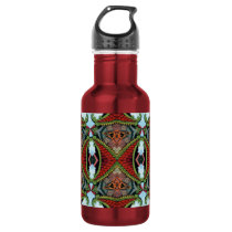 Chinese Memories Kaleidoscope Pattern Stainless Steel Water Bottle