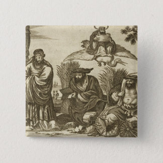 Chinese Merchants Consulting Fortune Tellers to En Pinback Button