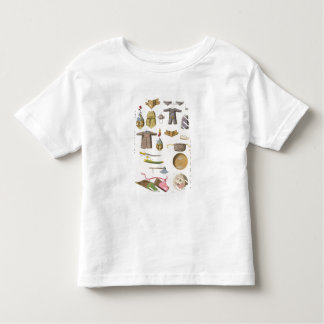 Chinese military arms and apparel, illustration fr toddler t-shirt