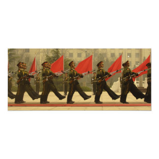 Chinese Military Honor Guard in Column Card
