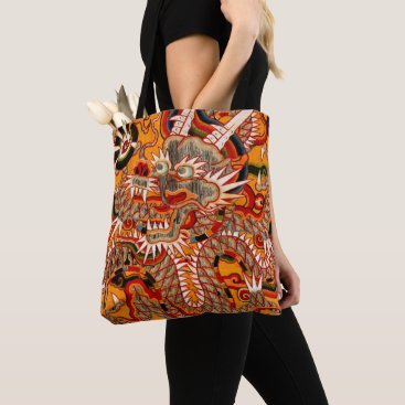 Art Themed Chinese Ming Dragon art Tote Bag