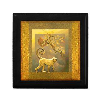 Chinese Monkey~ New Year Moon & Plum Blossoms Jewelry Box