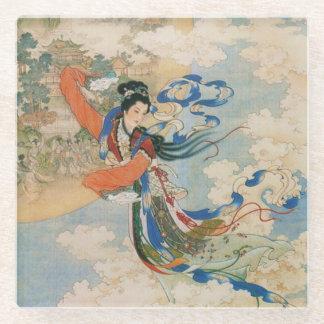 Chinese Moon Goddess glass coaster