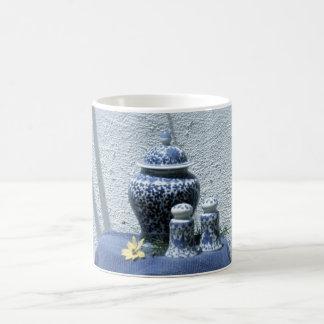 Chinese motif china classic white coffee mug