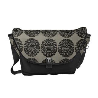 Chinese Motif Messenger Bag