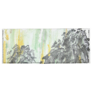 Chinese Mountain Landscape Painting Wallet