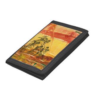 Chinese Mountain Sunset Art Tri-fold Wallet