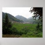 Chinese Mountain Village Poster