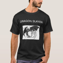 Chinese Mystical Dragon Slayer Black Tshirt