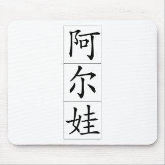 Chinese name for Alva Female 20012_1.pdf Mousepad