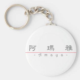 Chinese name for Amaya 21209_2.pdf Basic Round Button Keychain