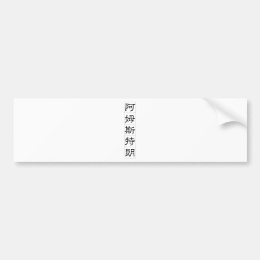 Chinese name for Armstrong 20428_2.pdf Car Bumper Sticker