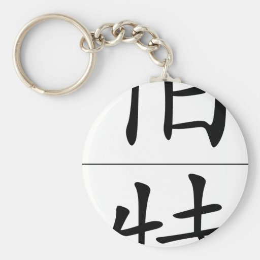 Chinese name for Bert 20465_1.pdf Basic Round Button Keychain