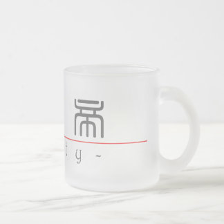 Chinese name for Betty 20041_0.pdf Frosted Glass Coffee Mug