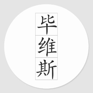 Chinese name for Bevis 20468_1.pdf Round Sticker