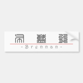 Chinese name for Brennan 22292_0.pdf Car Bumper Sticker