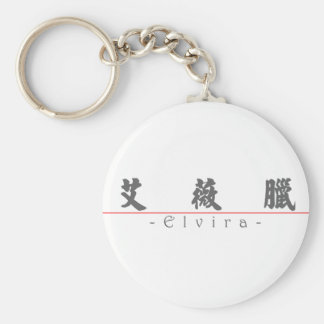 Chinese name for Elvira 20108_4.pdf Basic Round Button Keychain