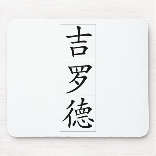 Chinese name for Gerald 20599_1.pdf Mouse Pad