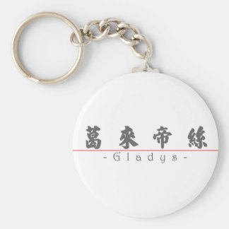 Chinese name for Gladys 20137_4.pdf Basic Round Button Keychain