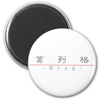 Chinese name for Greg 20606_2.pdf Refrigerator Magnet