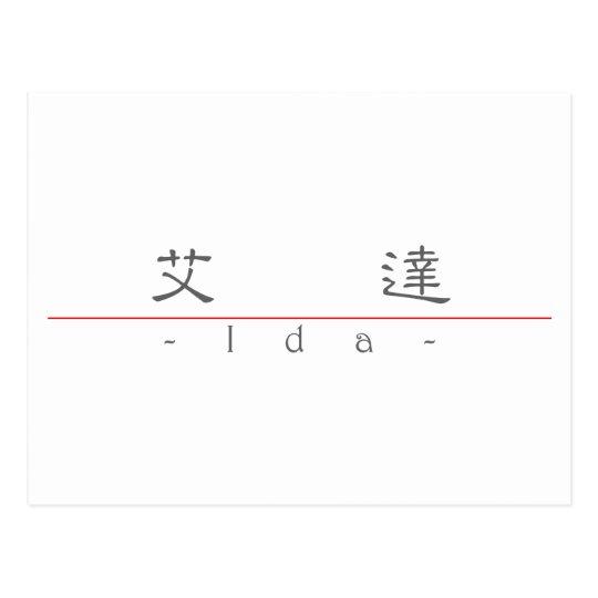 Chinese name for Ida 20156_2.pdf Postcard