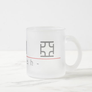 Chinese name for Izaiah 22389_0.pdf Frosted Glass Coffee Mug