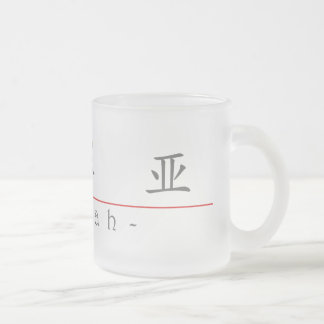 Chinese name for Izaiah 22389_1.pdf Frosted Glass Coffee Mug